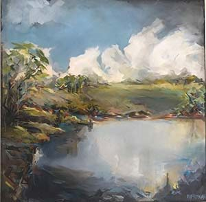 Michelle Offerman's oil on canvas captures an evocative Midlands scene.
